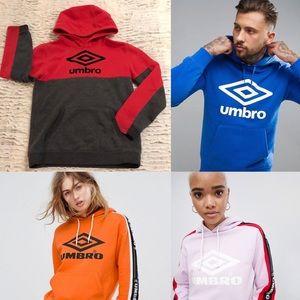 VINTAGE UMBRO color block hoodie sweatshirt YL WSm